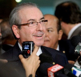 Presidente da Câmara dos Deputados, Eduardo Cunha (PMDB-RJ), concede entrevista. Foto: Jefferson Rudy/Agência Senado