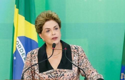 """Brasília - A presidenta Dilma Rousseff em entrevista a veículos estrangeiros no Palácio do Planalto disse que o Brasil tem um """"veio golpista adormecido""""  (Roberto Stuckert Filho/PR)"""