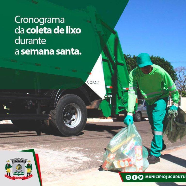 Prefeitura divulga horários da coleta de lixo no feriado da Semana Santa