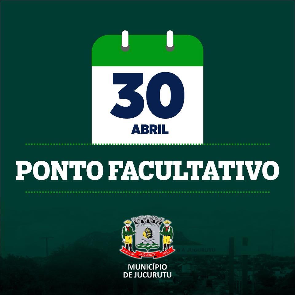 Prefeitura de Jucurutu decreta ponto facultativo na próxima segunda (30)