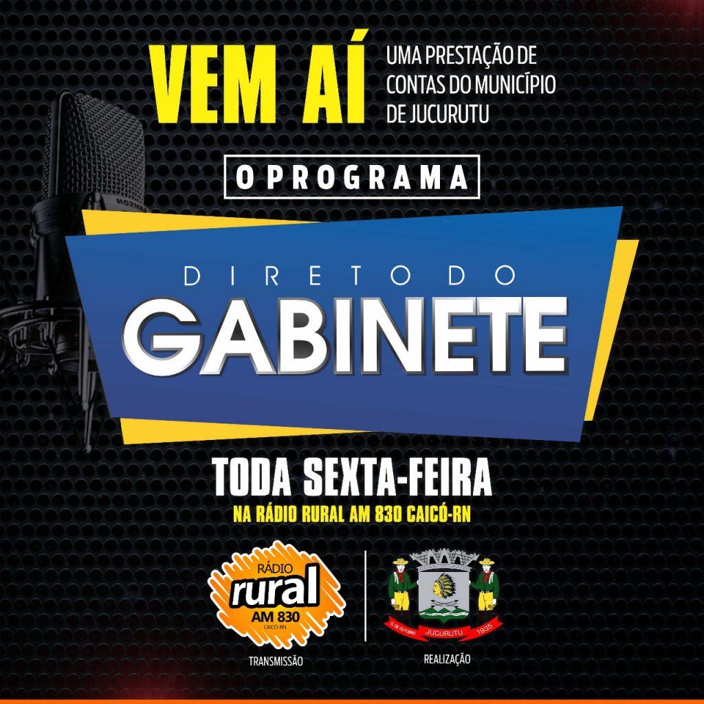 Prefeitura Municipal de Jucurutu estará lançando o seu programa de rádio: Direto do Gabinete