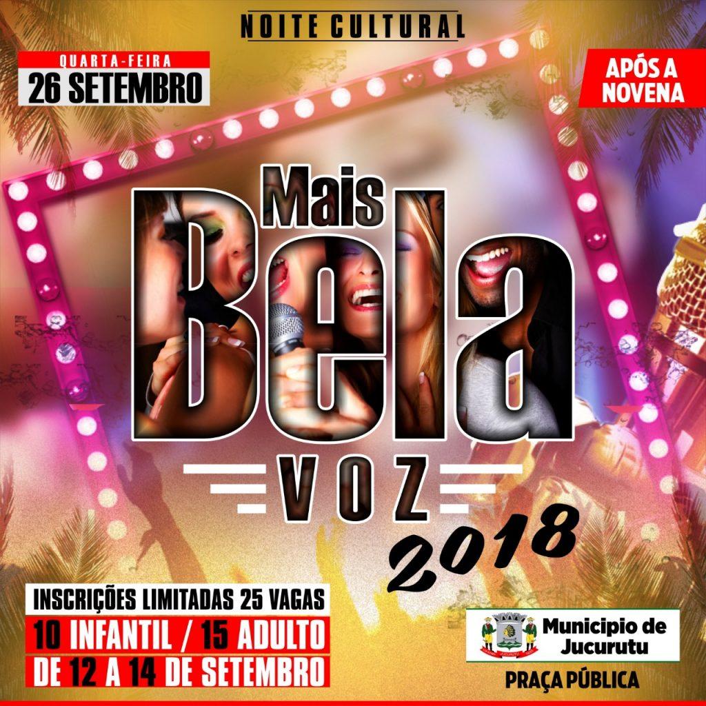 Abertas inscrições para A MAIS BELA VOZ – 2018