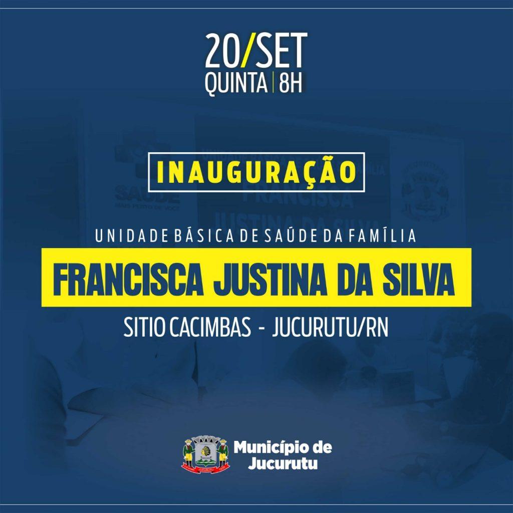 Prefeitura de Jucurutu convida população para inauguração de Unidade Básica de Saúde da Família no Sítio Cacimbas