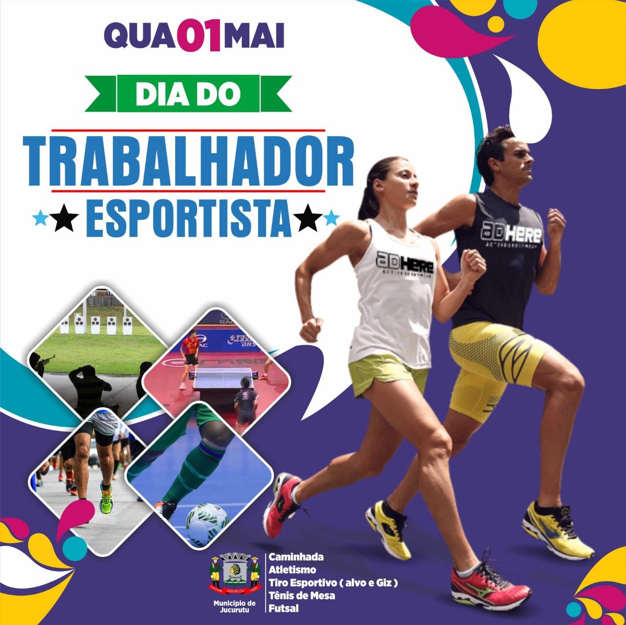 Em Jucurutu o Dia do trabalhador (1º de Maio) será comemorado com programação esportiva