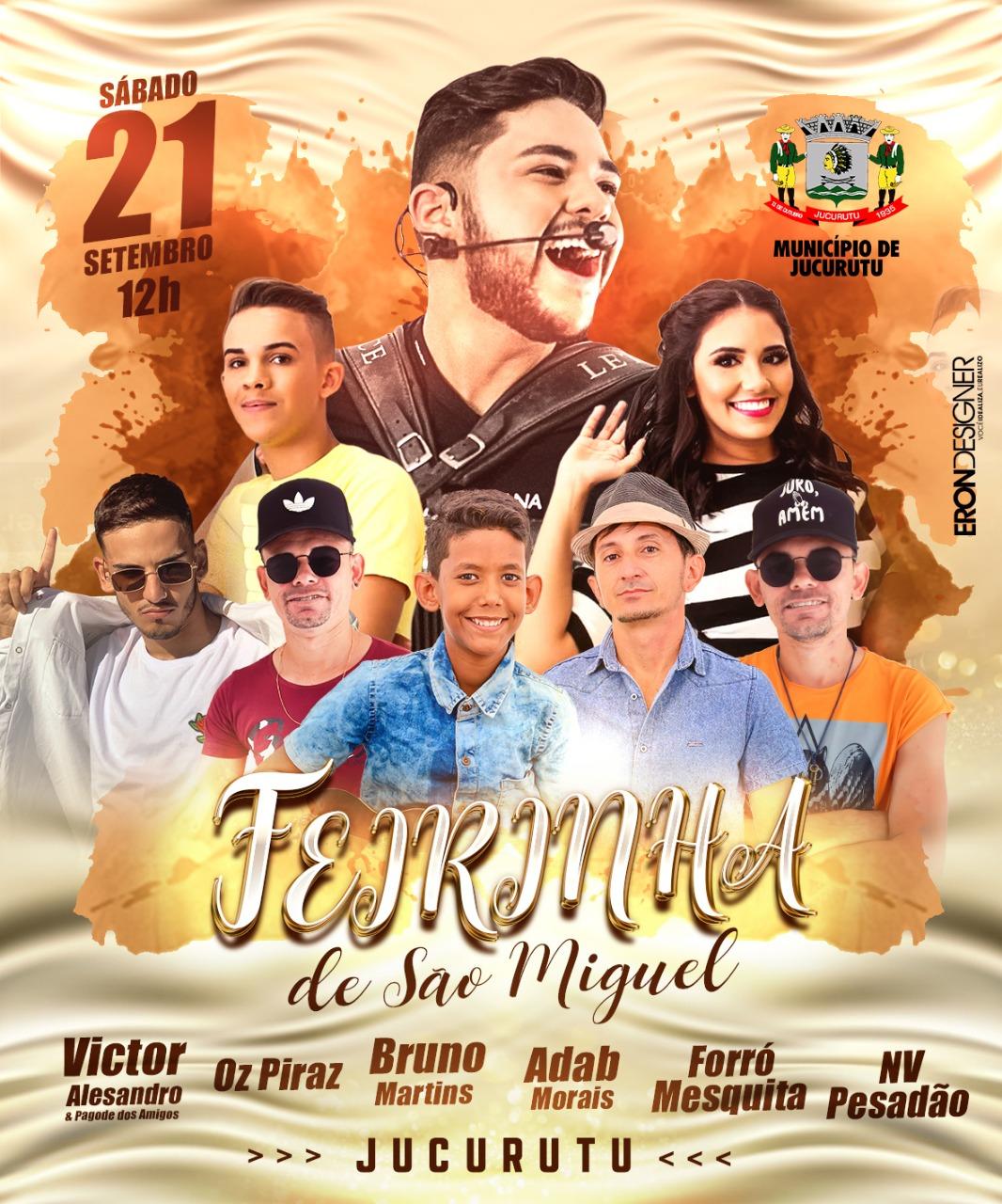 Jucurutu Festas: Atrações da Feirinha de São Miguel 2019